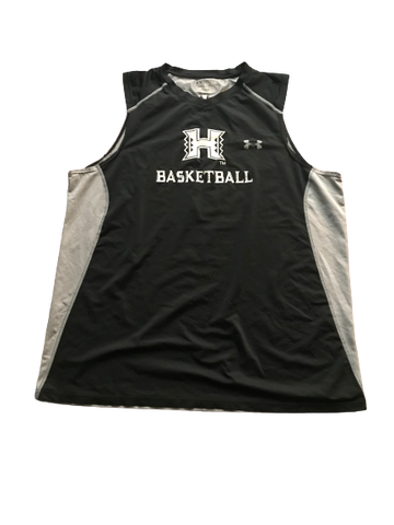 Zigmars Raimo Hawaii Basketball Team Issued Sleeveless Shirt with Number 14 on Back (Size XXL)