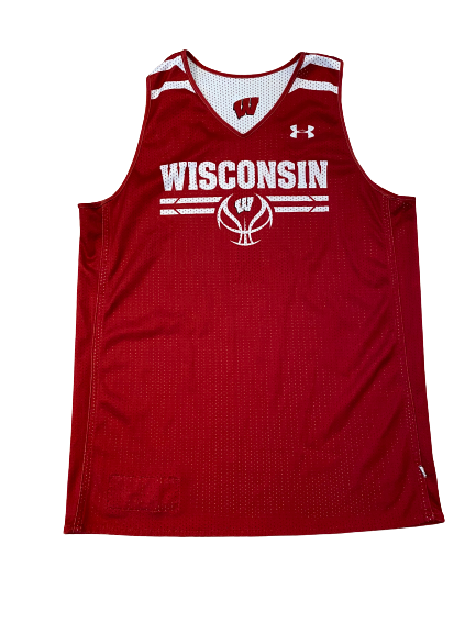 Wisconsin Basketball #1 Reversible Practice Jersey (Received from Khalil Iverson)(Size L)