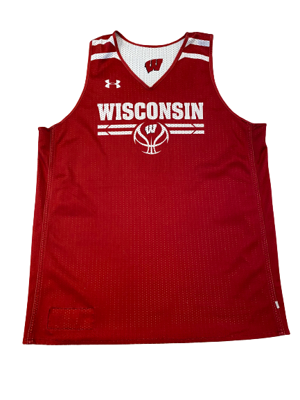 Wisconsin Basketball #2 Reversible Practice Jersey (Received from Khalil Iverson)(Size XL)