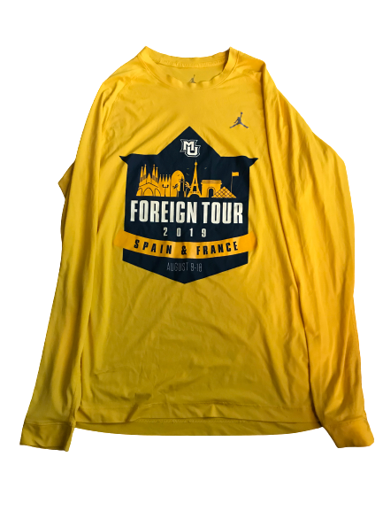 "Markus Howard Marquette Team Exclusive ""2019 Foreign Tour"" Long Sleeve Shirt (Size M)"