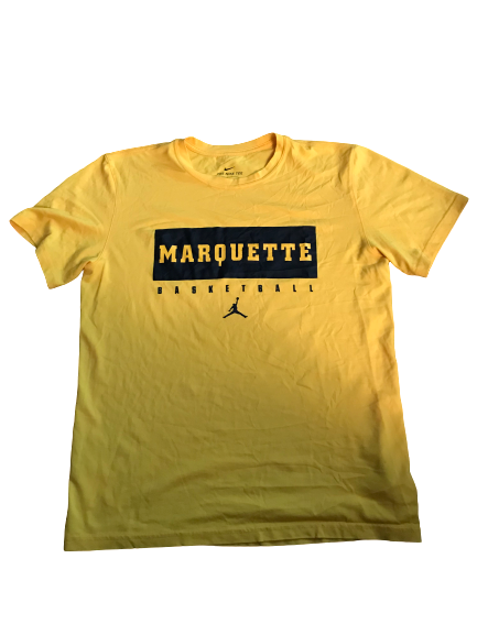 Markus Howard Marquette Basketball Team Issued Workout Shirt (Size M)