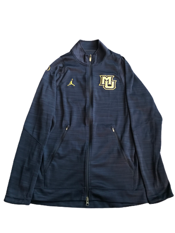 Markus Howard Marquette Basketball Team Issued Full-Zip Jordan Jacket With #0 (Size M)