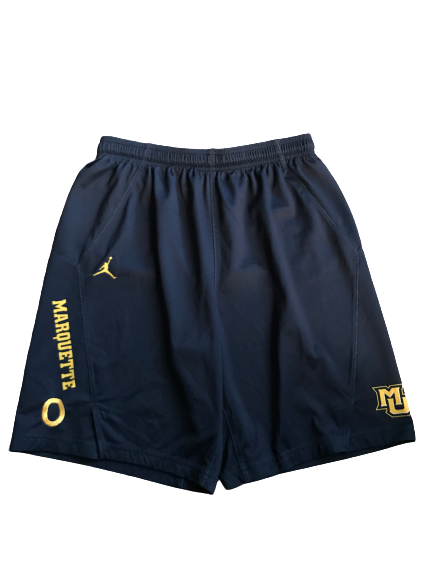 Markus Howard Marquette Basketball Team Issued Practice Shorts With #0 (Size M)