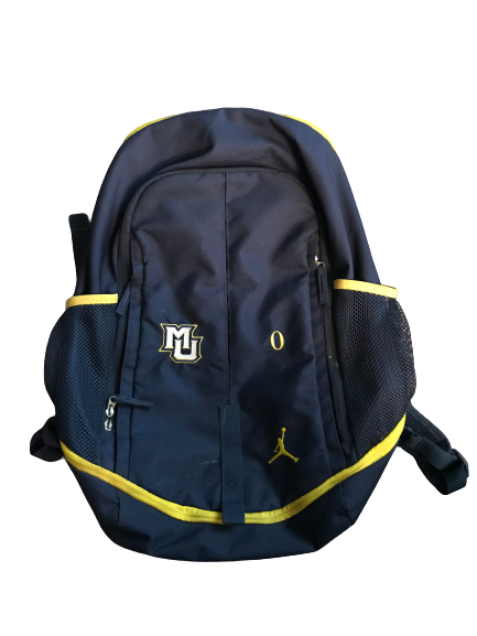 Markus Howard Marquette Basketball Team Issued Jordan Backpack With #0