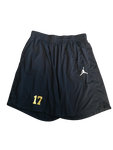 Tyrone Wheatley Jr. Michigan Team Issued Jordan Shorts (Size XXL)