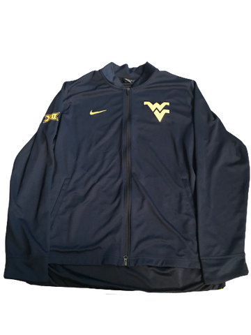 Esa Ahmad West Virginia Team Issued Full-Zip Warm-Up Jacket (Size XLT)
