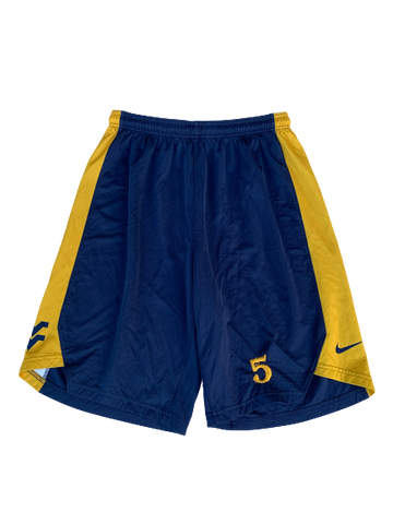 Logan Routt West Virginia Basketball Nike Practice Shorts (Size L)