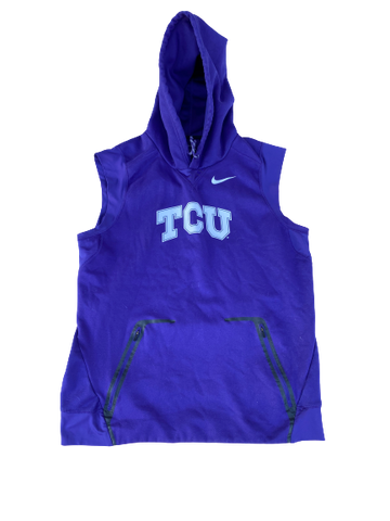Desmond Bane TCU Team Issued Sleeveless Hoodie (Size L)
