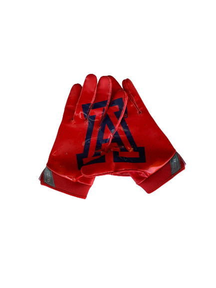 Malcolm Holland Arizona Football Nike Gloves (Size XL)