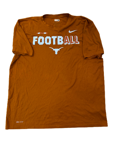 Tim Yoder Texas Football Team Issued Long Sleeve Shirt (Size XL)