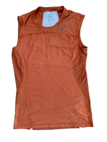 Tim Yoder Texas Football Team Issued Compression Tank (Size XL)