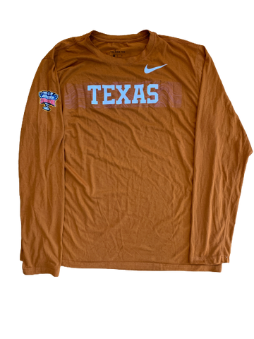 Tim Yoder Texas Football Team Exclusive Sugar Bowl Long Sleeve Shirt (Size XL)