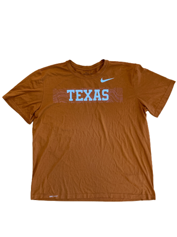 Tim Yoder Texas Football Team Issued Workout Shirt (Size XL)