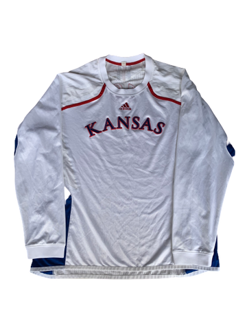 Tyshawn Taylor Kansas Basketball Adidas Pre-Game Shooting Shirt With Number (Size XL)