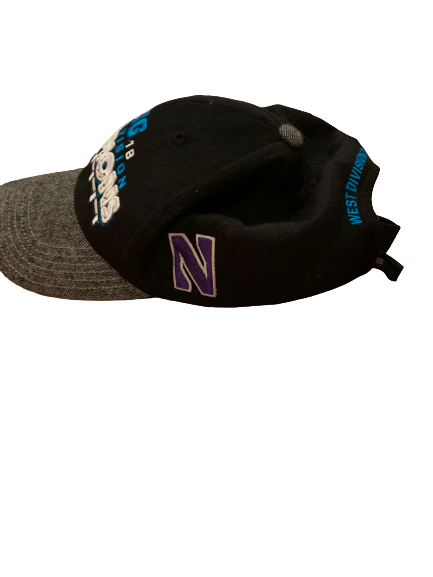 Nik Urban Northwestern Football Team Issued 2018 West Division Big 10 Champions Hat