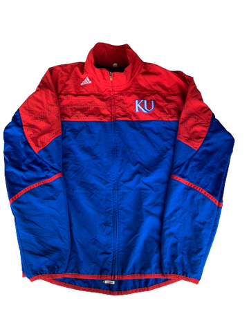 Tyshawn Taylor Kansas Adidas Zip-Up Jacket With Number (Size XL)