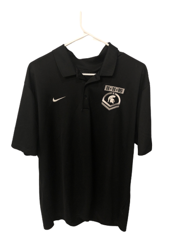 Kyle Ahrens Michigan State PE Armed Forces Classic Game NIKE Polo Shirt