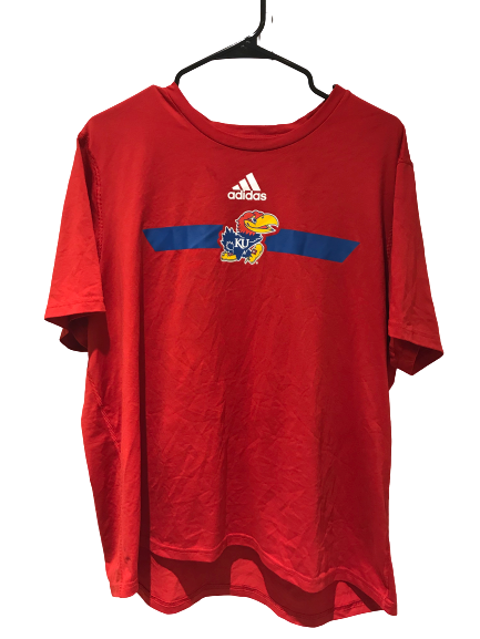 Lot of (2) Kansas Football Team Issued Shirts (Size XL)