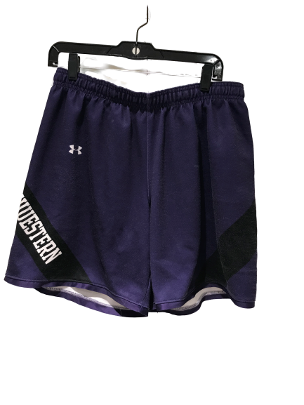 A.J. Turner Under Armour Northwestern Basketball Practice Shorts