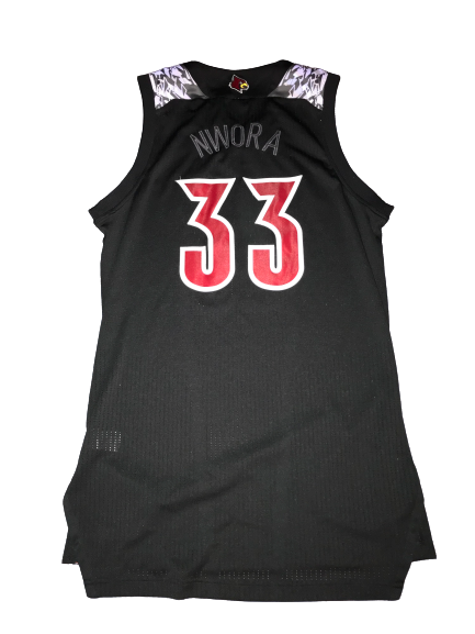 Jordan Nwora Game Worn Special Edition Black Ice Jersey vs. Kentucky 12/29/17 (Size L)