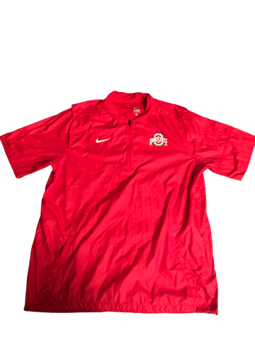 Rashod Berry Ohio State NIKE 1/4 Zip Windbreaker (Size XL)