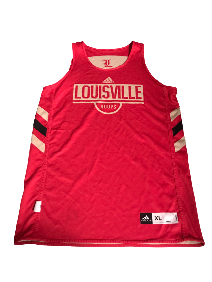 Jordan Nwora Louisville Gold & Red Special Edition Basketball Practice Jersey (Size XL)