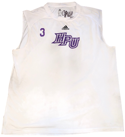 Jamal Wright High Point Basketball Signed Tank (Size M)