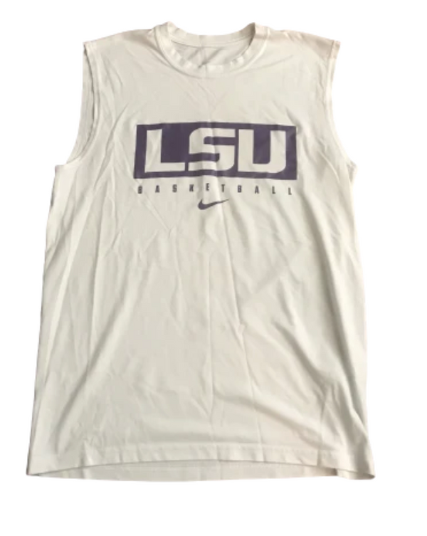 Lot of (2) Josh Gray LSU Basketball Team Issued Tanks (Size M)