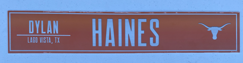 Dylan Haines Texas Football Locker Room Name Plate