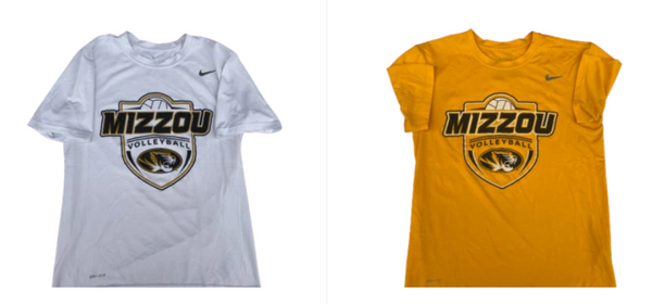 Lot of (2) Annika Gereau Missouri Volleyball Nike T-Shirts With Number on Back (Size Men's M)