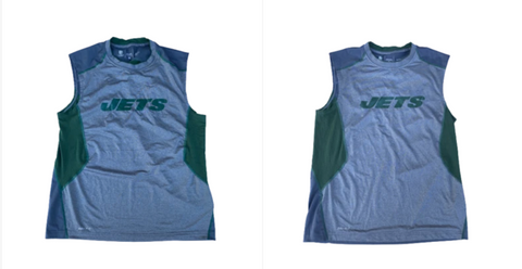 Dylan Haines New York Jets Set of (2) Team Issued Workout Tank (Size L)