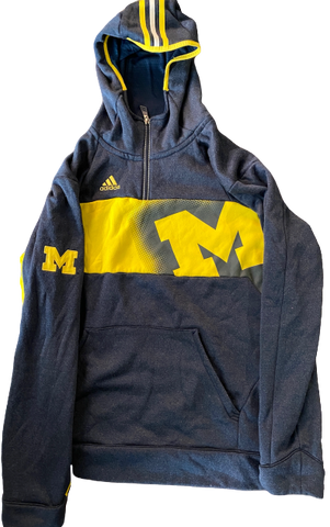 Derrick Walton Jr. Michigan Adidas Sweatshirt (Size L)