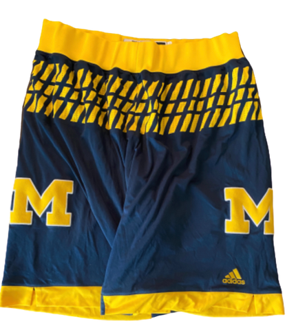 Derrick Walton Jr. Michigan Basketball 2015-2016 Game Worn Shorts