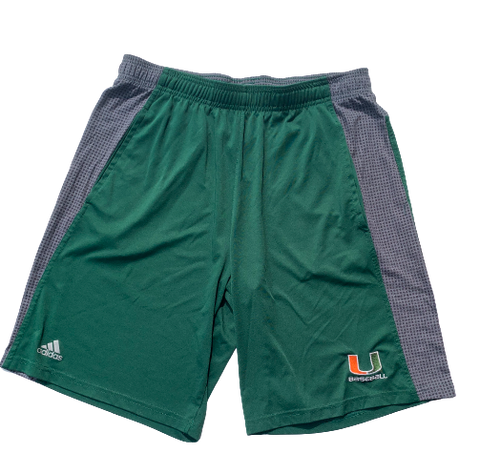 Chris McMahon Miami Baseball Adidas Shorts (Size L)