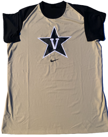 Simi Shittu Vanderbilt Basketball Pre-Game Warm-Up Shirt (Size XLT)