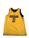 Zak Irvin Michigan Basketball Practice Jersey