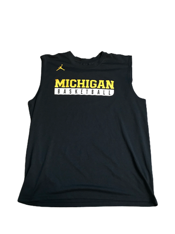 Zak Irvin Michigan Basketball Blue Workout Tank