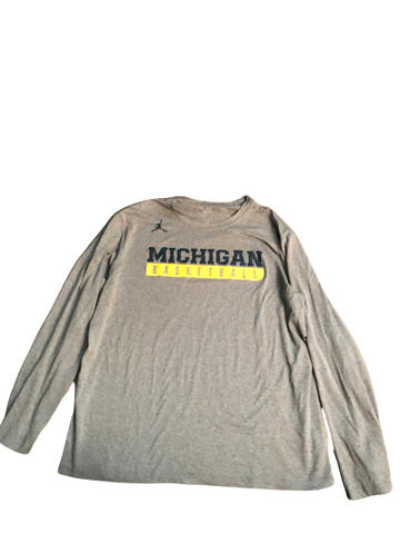 Zak Irvin Michigan Basketball Jordan Long Sleeve Shirt