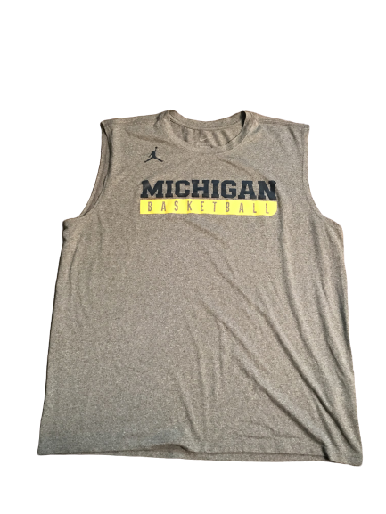 Zak Irvin Michigan Basketball Grey Workout Tank
