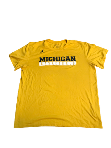 Zak Irvin Michigan Basketball Jordan T-Shirt