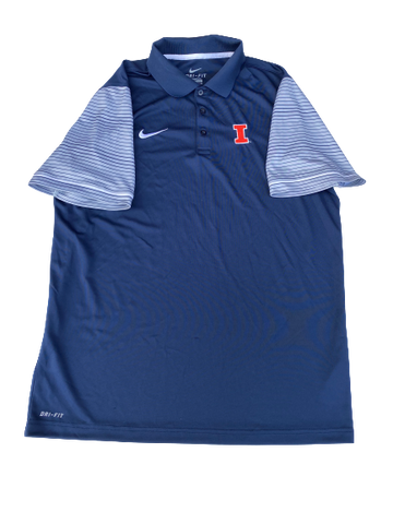 Kendrick Foster Illinois Nike Polo Shirt (Size XL)