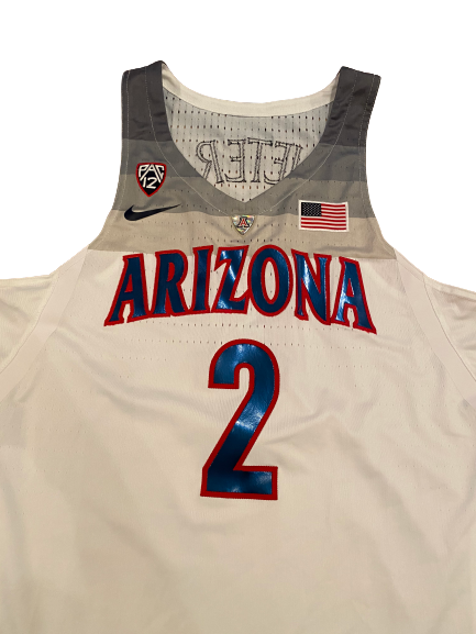 Chase Jeter Arizona Basketball 2016-2017 Season Signed Team-Issued Jersey (Size 48 Length +4)
