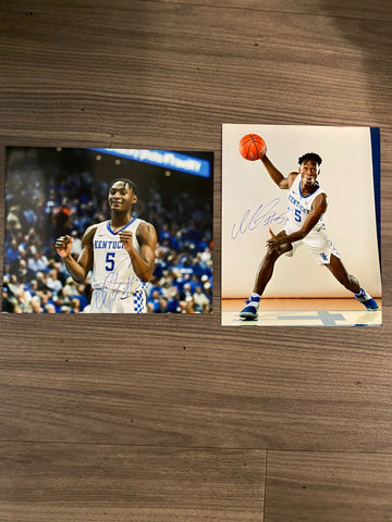 (2) Immanuel Quickley Autographed 8x10 Photos