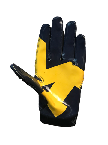 Tyrone Wheatley Jr. Michigan Jordan Game Used Glove (Size XXL)