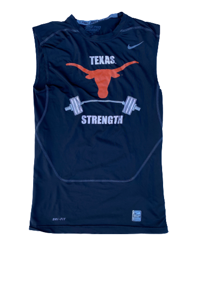 "Dylan Haines Texas Football Team Issued ""Texas Strength"" Tank (Size L)"