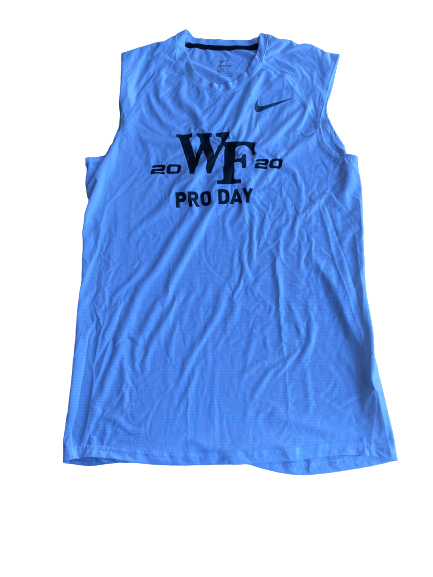 "Kendall Hinton Wake Forest Player Exclusive ""2020 Pro Day"" Worn Tank (Size L)"
