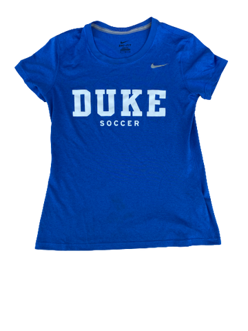 Imani Dorsey Duke Soccer Team Issued Workout Shirt (Size Women's M)