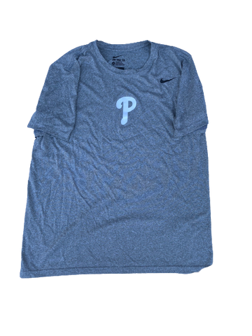 Sal Gozzo Philadelphia Phillies Team Issued Workout Shirt (Size L)