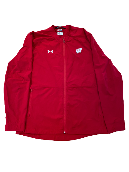 Rachad Wildgoose Wisconsin Football Team Issued Full-Zip Travel Jacket (Size L)
