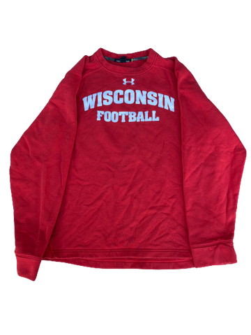 Cristian Volpentesta Wisconsin Football Team Issued Crewneck Sweatshirt (Size M)
